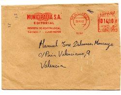 Carta Con Matasellos Rojo De Rodillo De 1982 - 1931-Hoy: 2ª República - ... Juan Carlos I