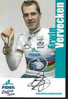 Cpm St004333 Carte Com Erwin Vervecken Fidea Team , Signée - Cyclisme