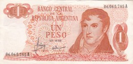 1 PESO GRAL BELGRANO REPUBLICA ARGENTINA SERIE A CIRCA 1970- BLEUP. - Argentina