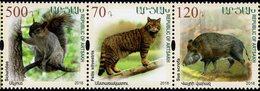 Armenia - Nagorno-Karabakh - 2018 - Preservation Of The Wildlife - Felis Silvestris, Sus Scrofa, Sciuridae - Mint Set - Armenien