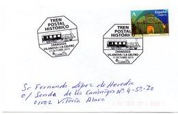 Carta  Con Matasellos  Commemorativo Tren Postal Historico Zaragoza- Vilanova I La Geltru. - 1931-Hoy: 2ª República - ... Juan Carlos I
