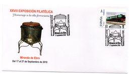 Carta  Con Matasellos  Commemorativo Miranda Del Ebro 2010 Y Sello Personalizado - 1931-Hoy: 2ª República - ... Juan Carlos I