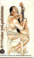 CARTE-PUCE-POLYNESIE-PF-98-30U-GEMB-04/2000-CHANTEUR Dans Une BRINQUE-UTILISE-BE - Polynésie Française