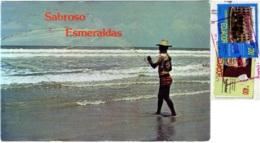 ECUADOR  ESMERALDAS  Playa De Muisne  Pescador  Fisherman  Nice Stamps - Ecuador