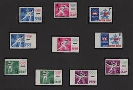 URSS - N°2772 à N°2776 + Non Denteles - Jeux Olympiques D'hiver - Neufs Sans Charniere ** MNH - Cote 11€ - 1923-1991 USSR