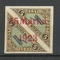 ESTLAND ESTONIA 1923 Michel 45 B I * Air Mail Air Plane Variety Light Red OPT - Estland