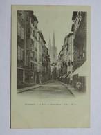 C.P.A. Précurseur : 64 BAYONNE : La Rue Du Port Neuf, Animé - Biarritz