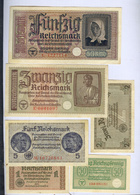 Ostland Germany 1/2, 1, 2, 5, 20, 50 Reichsmark Ca 1942 Germany Latvia Lithuania Estonia Russia  7833 - 2. WK