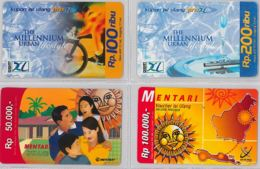 LOT 4 PREPAID PHONE CARD- INDONESIA (E39.58.1 - Indonesia