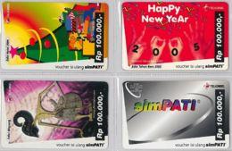 LOT 4 PREPAID PHONE CARD- INDONESIA (E39.59.5 - Indonesia