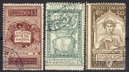 6* Centenario Della Morte Di Dante - Serie Completa Annullata - 1900-44 Vittorio Emanuele III