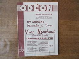 ODEON NOUVEAUTES JUIN-JUILLET 1958 SUIVIES DU RAPPEL DES DISQUES 33 ET 45 TOURS PARUS DEPUIS OCTOBRE 1957 16 PAGES - Musique & Instruments