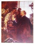 URSS Soviétique Propagande Poster Format A4 Lénine Et Le Prolétariat La Révolution Russe - Affiches