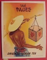 Publicité Panneau Cartonné Avec Support Arrière. Thé Pagès Original Ceylan. Illust. Kalischer. Vers 1970 - Advertising