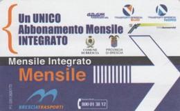 BIGLIETTO BUS ABBONAMENTO BRESCIA (VB550 - Abonnements Hebdomadaires & Mensuels