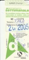BIGLIETTO BUS ABBONAMENTO BRESCIA (VB551 - Abonnements Hebdomadaires & Mensuels