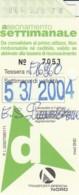 BIGLIETTO BUS ABBONAMENTO BRESCIA (VB552 - Abonnements Hebdomadaires & Mensuels