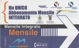 BIGLIETTO BUS ABBONAMENTO BRESCIA (VB553 - Abonnements Hebdomadaires & Mensuels