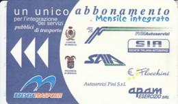 BIGLIETTO BUS ABBONAMENTO BRESCIA (VB560 - Abonnements Hebdomadaires & Mensuels