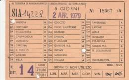 BIGLIETTO BUS ABBONAMENTO BRESCIA 1979 (VB568 - Abbonamenti