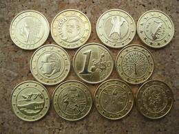 Lot De 11 Pièces EURO 1990-2002 SPECIMEN - Jetons & Médailles