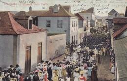 PRECISSAO. S. VICENTE. CABO VERDE. GIUSEPPE FRUSONI. S VICENTE. CIRCULEE 1909 A L'ARGENTINE TIMBRE ARRACHE- BLEUP. - Cape Verde
