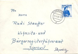 Brief  Eisenerz -  Sigriswil                1950 - 1945-.... 2a Repubblica