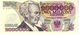 Poland P.158a 2000000 Zlotych 1992  Unc - Polonia