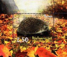 Bosnia & Herzegovina - Sarajevo - 2018 - White-breasted Hedgehog - Mint Souvenir Sheet - Bosnia Erzegovina