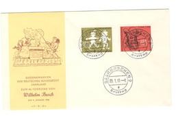 GERMANY1958:Michel281-2 WILHELM BUSCH FDC Michel25Euros($28) - [7] République Fédérale