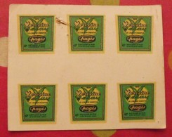 Publicité  Lot De 6 Petites Décalcomanies Verveine Du Velay Pagès. Le Puy-en-Velay. Vers 1960 - Publicités