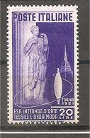 Italia - Serie Completa Nuova: Esposizione Int.le D'Arte Tessile E Della Moda A Torino - 1951 * G - 6. 1946-.. Republic