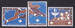 POLYNESIE AERIENS N°  110 à 112 ** MNH Neufs Sans Charnière, TB (D7904) Jeux Olympiques à Montréal - 1976 - Airmail