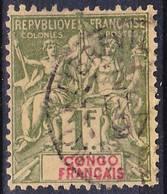 2018-0120 Congo Francais 1892 Yv 24 Oblitéré O - Französisch-Kongo (1891-1960)