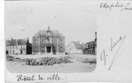 Etaples Hotel De Ville Carte Photo Voyagee En 1900 - Etaples