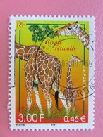 Timbre France YT 3333 - Série Nature De France - Girafe Réticulée - 2000 - Tampon Rond - Usati