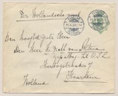 Nederlands Indië - 1923 - 20 Cent Wilhelmina In Ovaal, Envelop G44 Van LB Rangkas Betoeng Naar Haarlem / Nederland - Nederlands-Indië