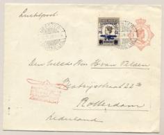 Nederlands Indië - 1928 - 75 Cent Luchtpost Op 1e Terugvlucht Bandoeng-Amsterdam, Propellerstempel ROTTERDAM - Niederländisch-Indien