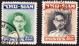 2018-0125 Siam 1948 Definitives Mi 269-270 Used O - Siam