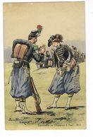 Uniforme.Cantinière De Chasseurs à Pied 1859. Pierre Albert Leroux.(36) - Uniforms