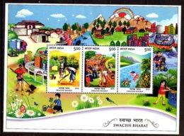 2015 India - Swach Bharat - Clean India Initiative For Environment And Water - MS MNH** MI B 127 - Umweltschutz Und Klima