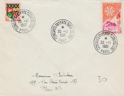 Paris 1961 - Congrès Odontologie - Dentiste - Marcophilie (Lettres)