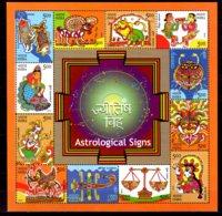 2010 India - Astrology - Lunar / Solar Zodiack - MS Of All Signs - MNH** MI B 79 - Astrologie