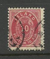 ISLAND 1896/98 Michel 8 O - Oblitérés