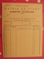 Porte-documents Dossier, Mairie De Vichy . Archives Inventaire. Vierge. Années 1900 - Documenti Storici