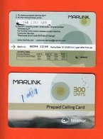 Marlink- One Used Pre Paid Calling Card. Telenor. 300 Units. - Norvegia