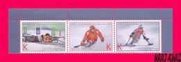 TRANSNISTRIA 2018 Sport Winter Sports Paralympic Games Slalom Biathlon Hockey 3v MNH - Shooting (Weapons)
