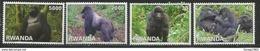 2010 Rwanda Rwandaise Mountain Gorillas  Tourism Primates Complete Set Of 4 MNH - Rwanda