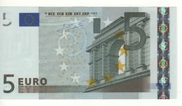 "5 EURO  ""X"" Germany    Firma Trichet     P 014 C3   X28  /  FDS - UNC - EURO"