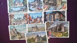Lot De 10 Cartes Sur Les Châteaux De La Loire - Histoire